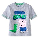 Toddler Boys' Peppa Pig George Pig T-Shirt - Grey 2T