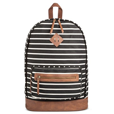 Women's Backpack Handbag Black/White - Mossimo Supply Co.