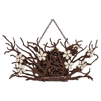 Desert Steel Pear Blossom Suet Feeder - White
