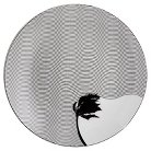 "Cheeky® 6"" Porcelain Appetizer Plate - Fine Lines Palm Tree"