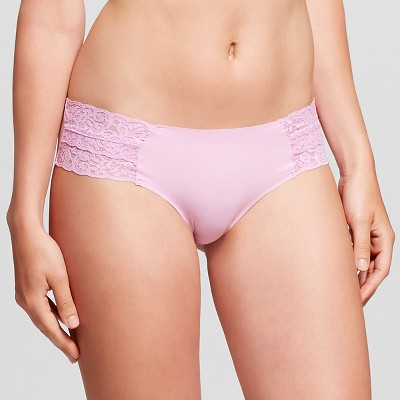 Women's Cheeky Laser Cut with Lace Boyshort Pink Violet M - Xhilaration™