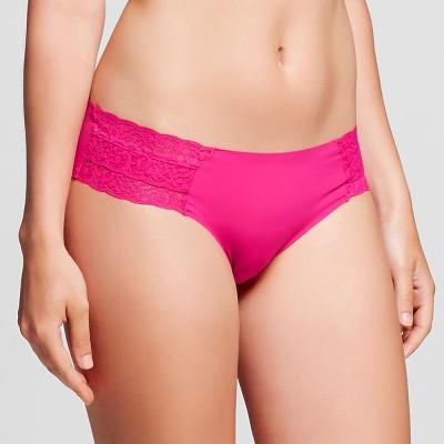 Women's Cheeky Laser Cut with Lace Boyshort Dramatic Pink M - Xhilaration™