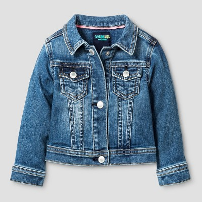 Baby Girls' Jean Jacket Medium Blue 12M - Genuine Kids from Oshkosh™