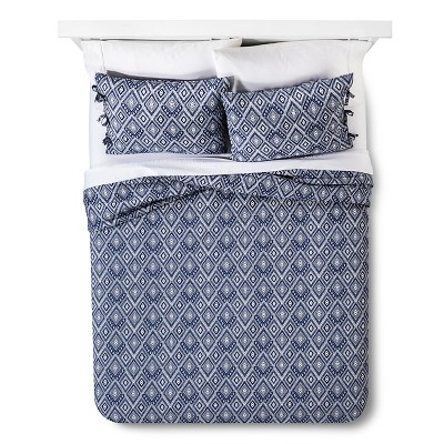 Maroq Quilt Set (Queen) Navy 3pc - Mudhut™