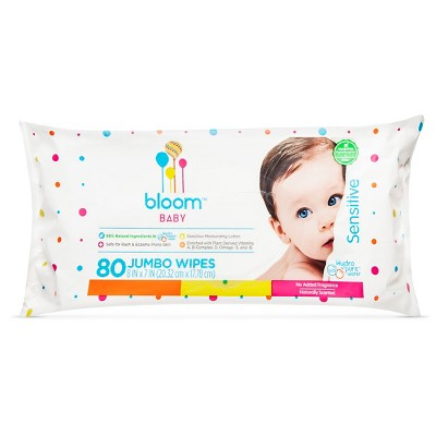 Bloom Baby Wipes - 80 Count