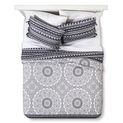 Maison Coverlet Set (Full/Queen) Black&White 3pc - Mudhut™