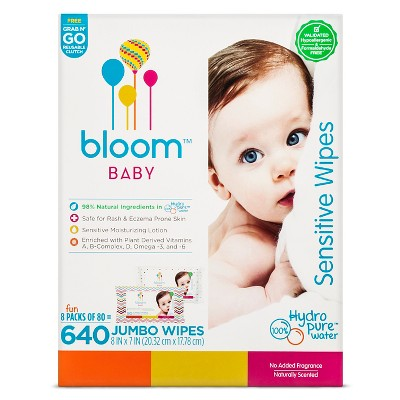 Bloom Baby Wipes - 640 Count