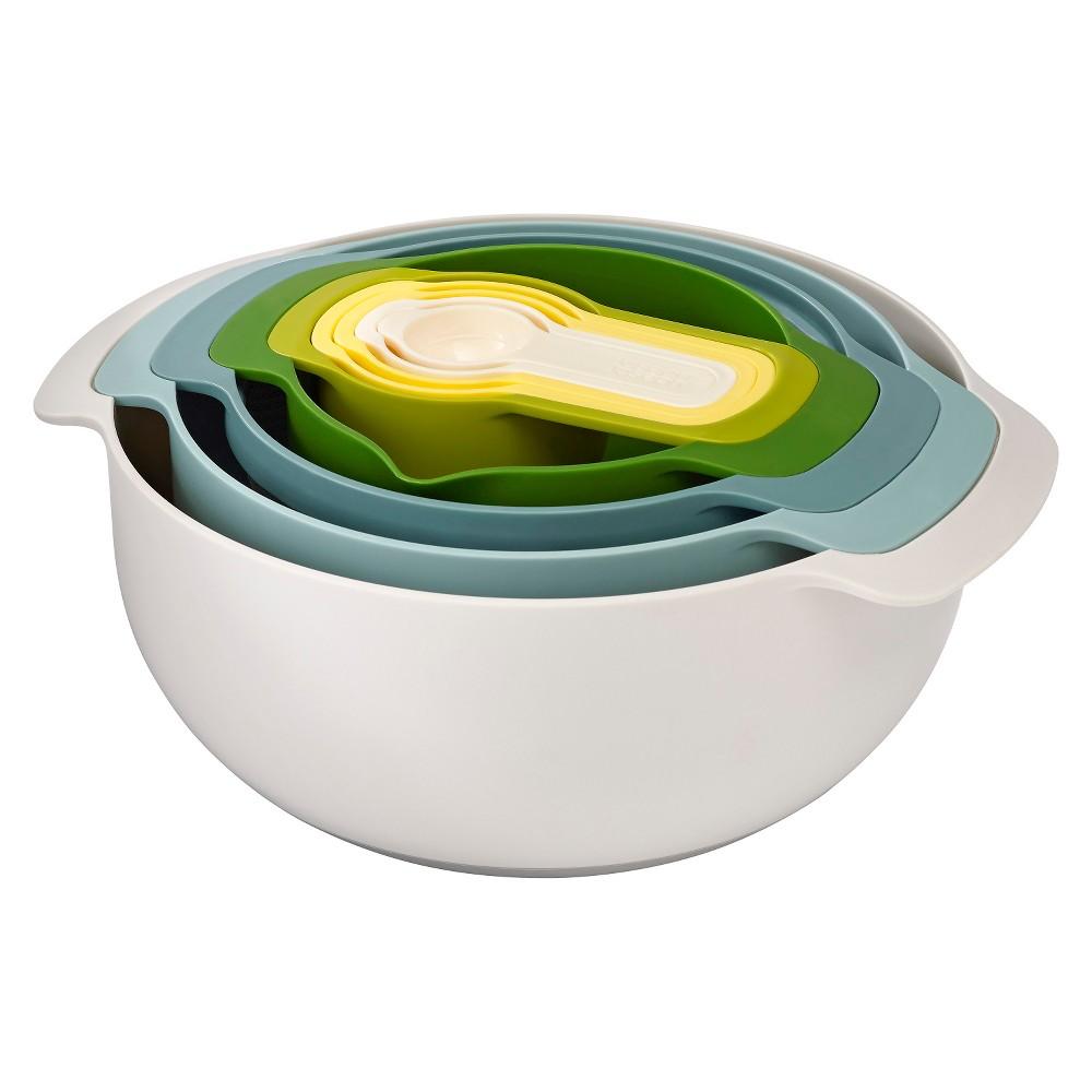 Joseph Joseph Nest 9 Plus Mixing Bowl Set - Opal, Multi-Colored