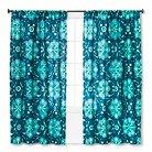 "Mudhut™ Tamerin Teal Flower Window Panel - Blue (55""x84"")"