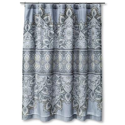 "Masai Shower Curtain (72""x72"") Grey- Mudhut™"
