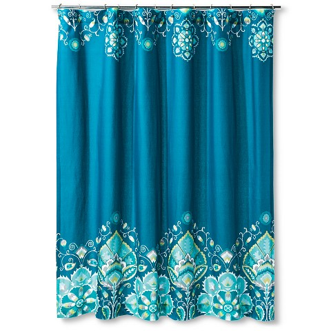 Tamerin Teal Shower Curtain 72x72 Blue