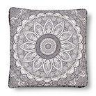 Maison Flower Floor Pillow Black (26x26) - Mudhut™