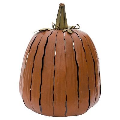 Desert Steel Tall Pumpkin Luminary - Orange