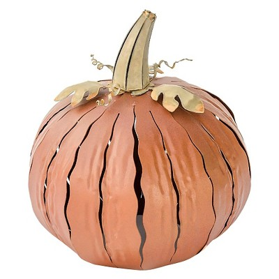 Desert Steel Short Pumpkin Luminary - Orange