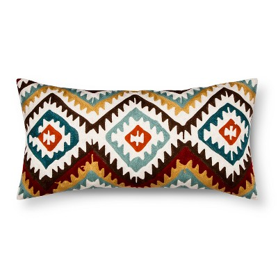 "Kamala Decorative Pillow (12""x24"") Multicolor - Mudhut™"