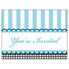 Baby Shower Blue Invitations - 8 count