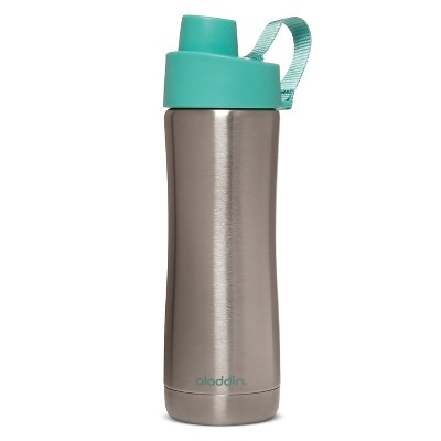 Aladdin 16oz Stainless Steel Vacuum Water Bottle - Sunbleached Turq