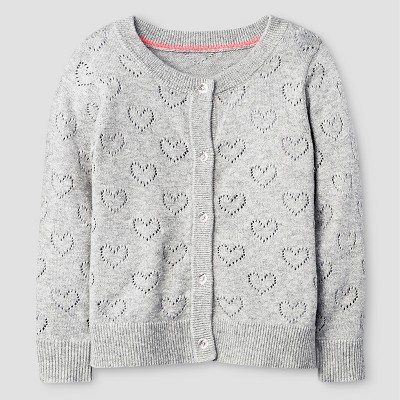 Baby Girls' Cardigan Grey 12M - Cat and Jack™