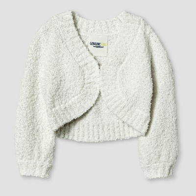 Baby Girls' Cropped Cardigan Almond Cream 12M - Genuine Kids™