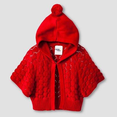 Baby Girls' Hoodie Cardigan Red 12M - Genuine Kids™