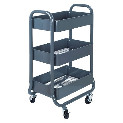 Room Essentials™ 3Tier Rolling Cart - Gray