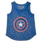 Girls' Captain America Tank Top - Blue XS