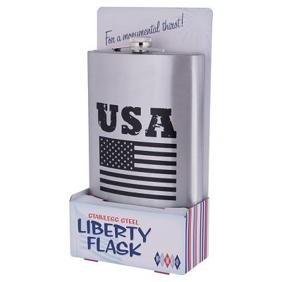 Wemco Graphic Flaskzilla Flask - Silver