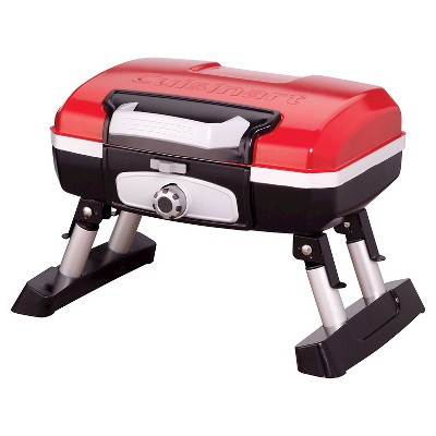 Cuisinart Petit Gourmet Portable Tabletop Outdoor LP Gas Grill - Red