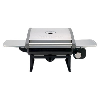 Cuisinart  All-Foods Tabletop Outdoor LP Gas Grill with Veggie Panel - Silver