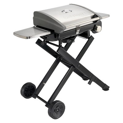 Cuisinart All-Foods Roll-Away Portable Outdoor LP Gas Grill - Silver