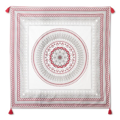 Aminah Tapestry 57x57 Inch - Red - John Robshaw®