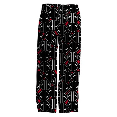 Men's Marvel Deadpool Reactive Knit sleep Pant Black-L