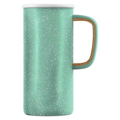 Ello Campy 16oz Stainless Steel Travel Mug - Sunbleached Turquoise