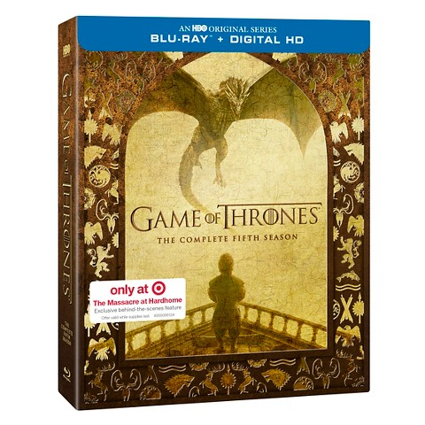 game of thrones season 5 blu ray target excl target. Black Bedroom Furniture Sets. Home Design Ideas