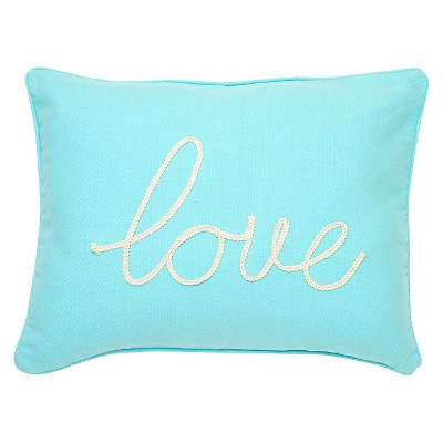"homthreads™ Love Decorative Pillow - Teal (14""X18"")"