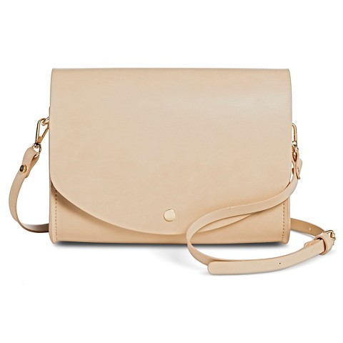 Women's Structured Crossbody With Detachable Shoulder Strap - BEIGE NUDE
