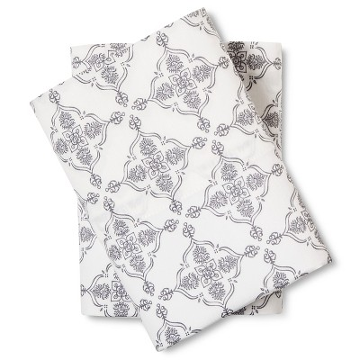 Medallion Pillow Cases Standard Grey - Mudhut™