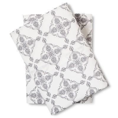 Medallion Pillow Cases King Grey - Mudhut™