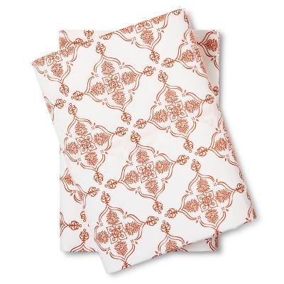 Medallion Pillow Cases King Orange - Mudhut™