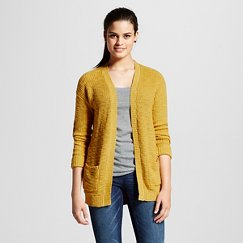 Women's Long Sleeve Shaker Stitch Cardigan - Mossimo Supply Co.™ (Juniors')