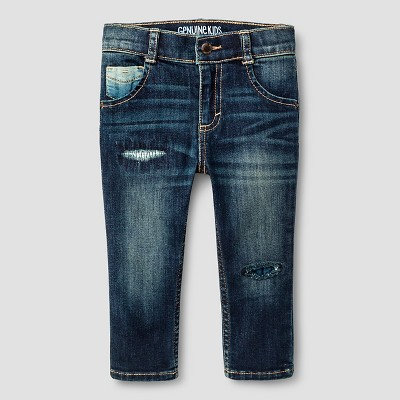 Baby Boys' Jeans - Dark Blue 12 M - Genuine Kids™ from OshKosh®
