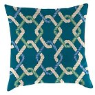 Outdoor Decorative Pillow Set Jordan Manufacturing Multi-colored Blue Ocean White