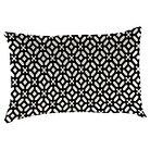 Outdoor Decorative Pillow Set Jordan Manufacturing Ebony Opaque White