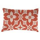 Outdoor Decorative Pillow Set Jordan Manufacturing Coral Pink White