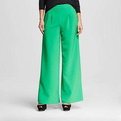XOXO Women's Wide Leg Pant Green 0 (Juniors')