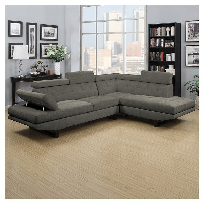 Frederick Sectional- Gray Linen- Handy Living
