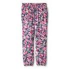 Girls' Floral Print Mid Rise Fashion Pants Nightfall Blue XS - Cherokee®