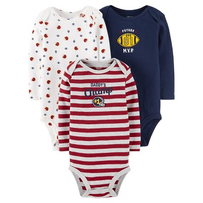 Baby Boys' 3 Pack Long Sleeve Sports Bodysuit Set 24M - Just One You™Made by Carter's®