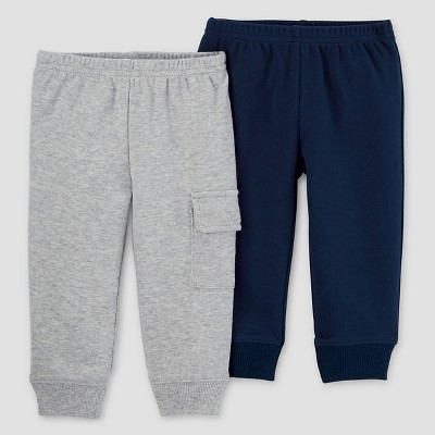 Baby Boys' 2 Pack Pants Navy/Grey 9M - Just One You™Made by Carter's®