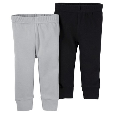 Baby Boys' 2 Pack Pants Black/Grey 12M - Just One You™Made by Carter's®